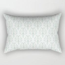 Soft Baroque Lace Aqua Rectangular Pillow