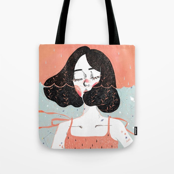 Drowning in Thoughts Tote Bag
