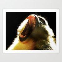 Primal Yawn Art Print