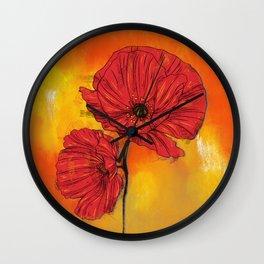 Poppy Variation 7 Wall Clock