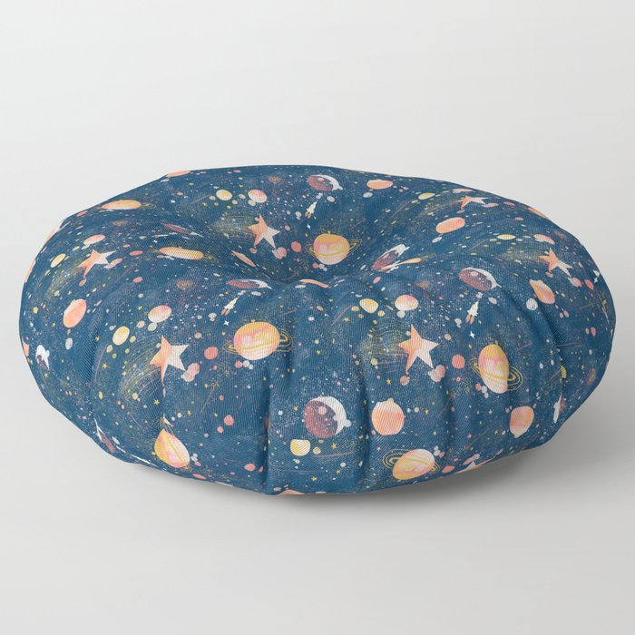 Painted Space Floor Pillow