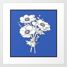 Beautiful Flowers #1 Anémone  Art Print