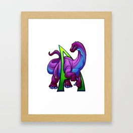 A is for Apatosaurus Framed Art Print