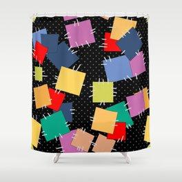 Multi-colored flaps, retro Shower Curtain