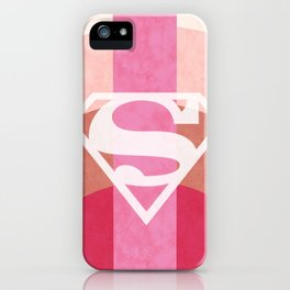 Girly Superman Logo iPhone Case