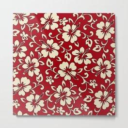 Malia Hawaiian Hibiscus Aloha Shirt Print Metal Print