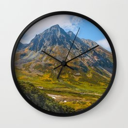 Old Volcano in Autumn Wall Clock