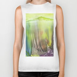 Waterfall of colors - abstract landscape watercolor monotype Biker Tank