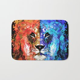 Lion Art - Majesty - Sharon Cummings Bath Mat