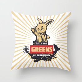 Seize the GREENS of production Throw Pillow