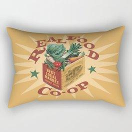 Real Food Co-op Poster Rectangular Pillow