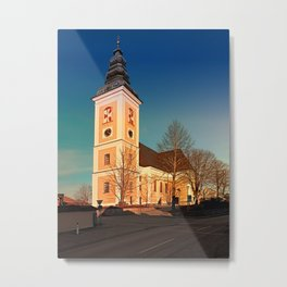 The village church of Sankt Peter am Wimberg III | architectural photography Metal Print