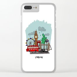 London, England Clear iPhone Case