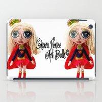 karu kara iPad Cases featuring Kara Zoe-El ~ Supergirl by Chiara Venice Art Dolls