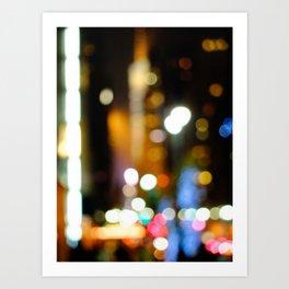'42nd STREET'S BRIGHT LIGHTS' Art Print