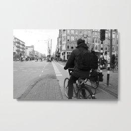 Amsterdam cyclists Metal Print