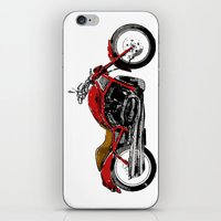 motorcycle iPhone & iPod Skins featuring Motorcycle by magnez2