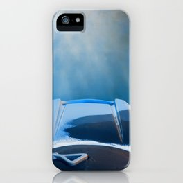 Moving Fast Kayaking on McCloud Reservoir iPhone Case