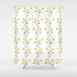 Yellow Butterfly Bouquet Vine Shower Curtain