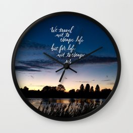 Traveling (phone cases) Wall Clock