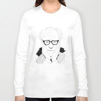 woody allen Long Sleeve T-shirts featuring Woody Allen by lena kuzina