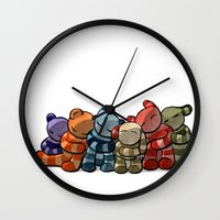 cuddle Wall Clocks featuring Cuddle by Friederike Ablang