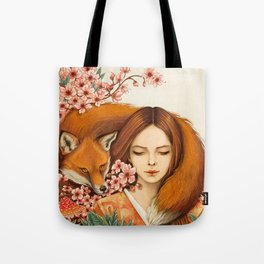Red Fox - Totem Tote Bag