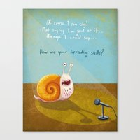 Singing snail Canvas Print