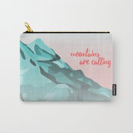 Mountains Are Calling Typography Design Carry-All Pouch