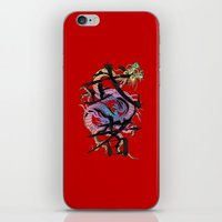 dragon iPhone & iPod Skins featuring Dragon by Spooky Dooky