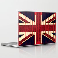 british flag Laptop & iPad Skins featuring BRITISH FLAG by shannon's art space