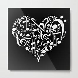 Invert Music love Metal Print