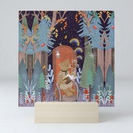 the little book of rainbows Mini Art Print
