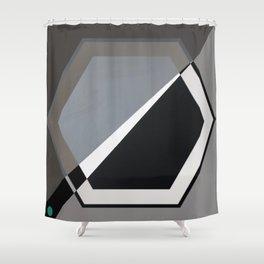 London - hexagon Shower Curtain