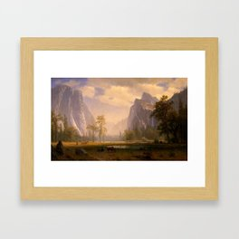 Looking Up The Yosemite Valley 1865 By Albert Bierstadt | Reproduction Painting Framed Art Print