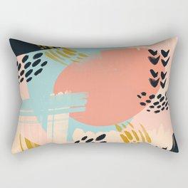 Brushstrokes abstract art Rectangular Pillow