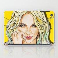 nicki iPad Cases featuring BRITNEY YELLOWNEY by CARLOS CASANOVA