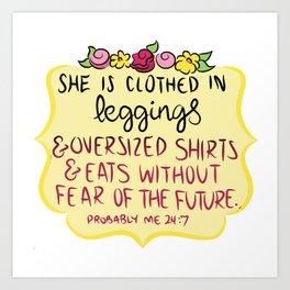 oversized shirts and leggings Art Print