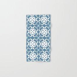 Flower Stamp Pattern Hand & Bath Towel
