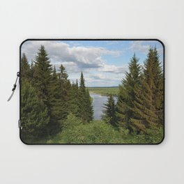 Landscape view on the taiga in Kargort village in Komi Republic of Russia. Laptop Sleeve