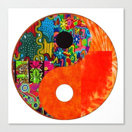 Orange Spunk Yin & Yang Canvas Print