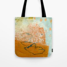 orange abstract Tote Bag