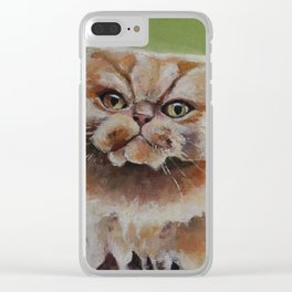 Art, oilpainting persian cat Clear iPhone Case