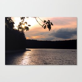 Sunset at Concord's Walden Pond 4 Canvas Print