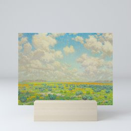 Granville Redmond Spring Antelope Valley Beautiful Landscape Painting Blue Sky Green Flower Filled F Mini Art Print
