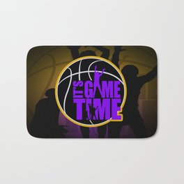 It's Game Time - Purple & Gold Bath Mat