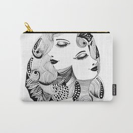 Ink drawing Zodiac Gemini Carry-All Pouch