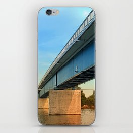 Bridge across the river Danube | architectural photography iPhone Skin