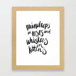My Favourite Things - Raindrops Framed Art Print
