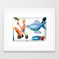 surrealism Framed Art Prints featuring Surrealism by amanvel